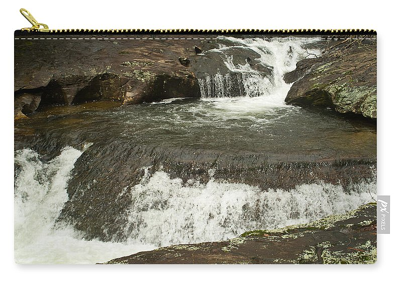Waterfall Carry-all Pouch featuring the photograph Waterfall 200 by Douglas Barnett