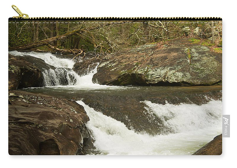 Waterfall Carry-all Pouch featuring the photograph Waterfall 202 by Douglas Barnett