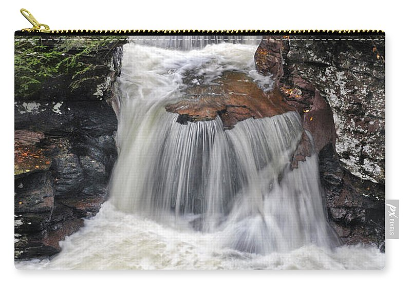Waterfall Carry-all Pouch featuring the photograph Waterfall At Ricketts Glen by Dave Mills