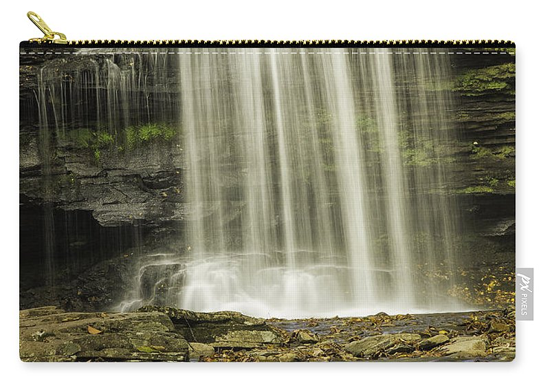 Landscape Carry-all Pouch featuring the photograph Waterfall by Fran Gallogly