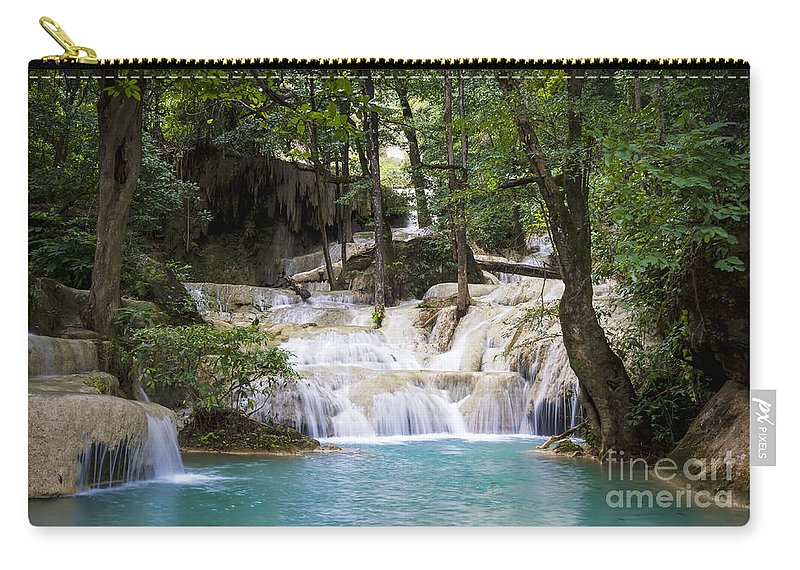 Thailand Carry-all Pouch featuring the photograph Waterfall In Deep Forest by Setsiri Silapasuwanchai