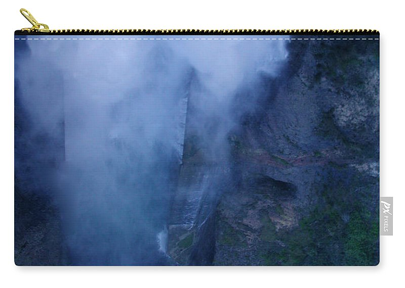 Colette Carry-all Pouch featuring the photograph Waterfall In Spain Near Granada by Colette V Hera Guggenheim