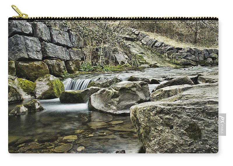 Waterfall Carry-all Pouch featuring the photograph Waterfall by Steve Purnell