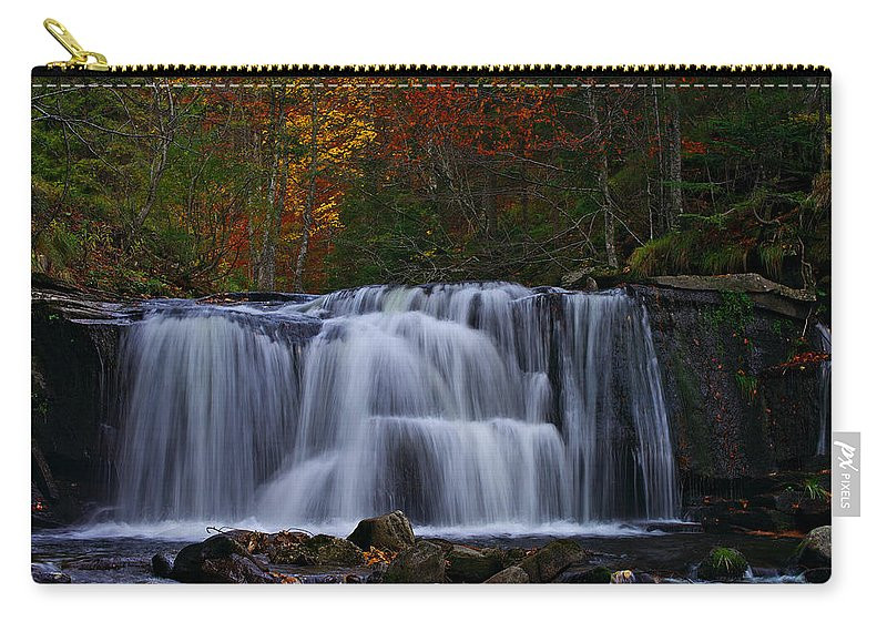 Waterfalls Carry-all Pouch featuring the photograph Waterfall Svitan by Ivan Slosar