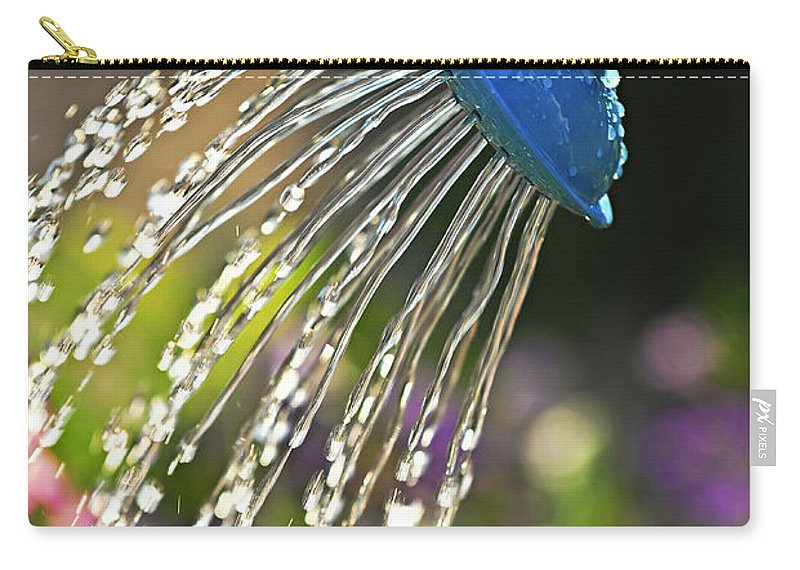 Water Carry-all Pouch featuring the photograph Watering Flowers by Elena Elisseeva