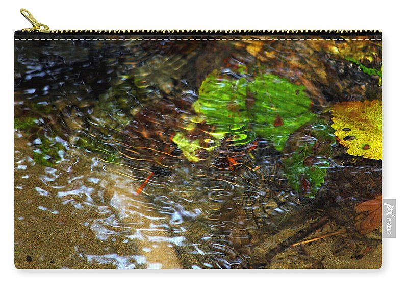 Leaf Carry-all Pouch featuring the photograph Watershed Creek by Jeanette C Landstrom