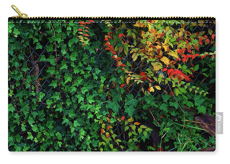 Leaf Carry-all Pouch featuring the photograph Watershed Park Foliage by Jeanette C Landstrom