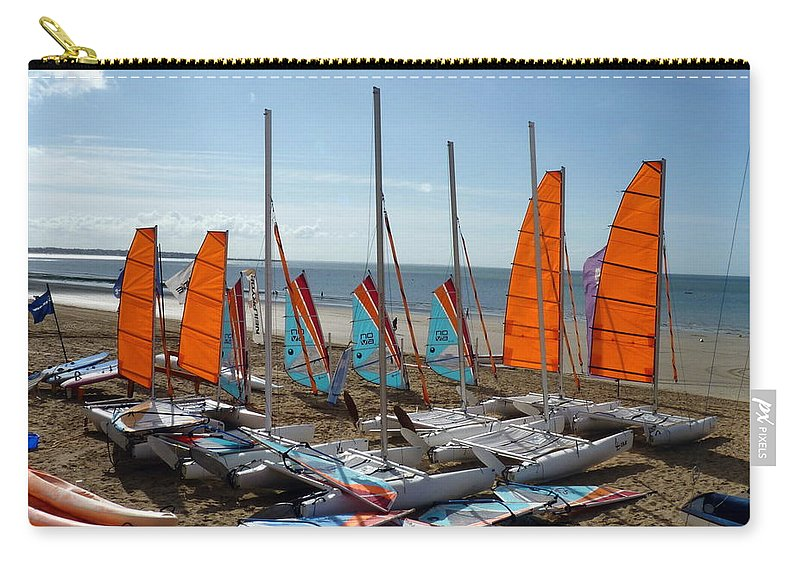 La Baule-escoublac Carry-all Pouch featuring the photograph Watersports In La Baule by Carla Parris