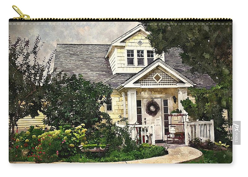 House Carry-all Pouch featuring the digital art Watson Home by Kelley Gruver