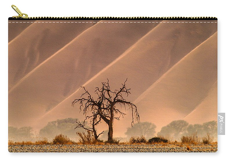 Africa Carry-all Pouch featuring the photograph Wave Tree by Alistair Lyne