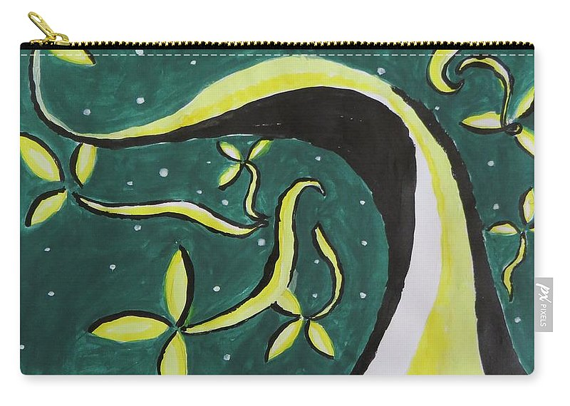 Floral Way Carry-all Pouch featuring the painting Way by Sonali Gangane