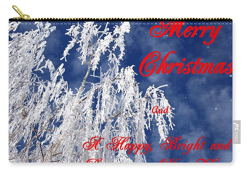 Christmas Carry-all Pouch featuring the photograph Weeping Willow Christmas by DeeLon Merritt