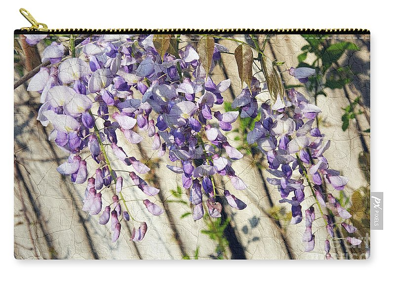 Wisteria Carry-all Pouch featuring the photograph Weeping Wisteria by Andee Design