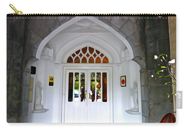 Door Carry-all Pouch featuring the photograph Welcome To The Manor by Charlie and Norma Brock
