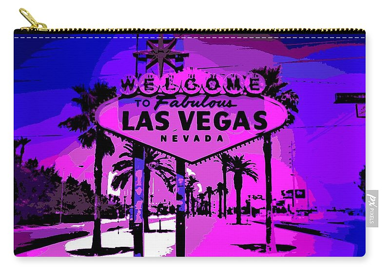 Las Vegas Carry-all Pouch featuring the photograph Welcome To Vegas No.2 by George Pedro