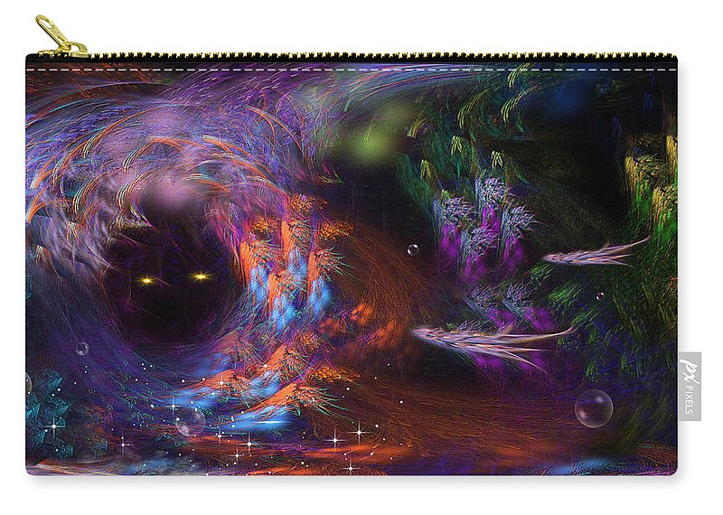 Phil Sadler Carry-all Pouch featuring the digital art We'll Leave The Light On.... by Phil Sadler