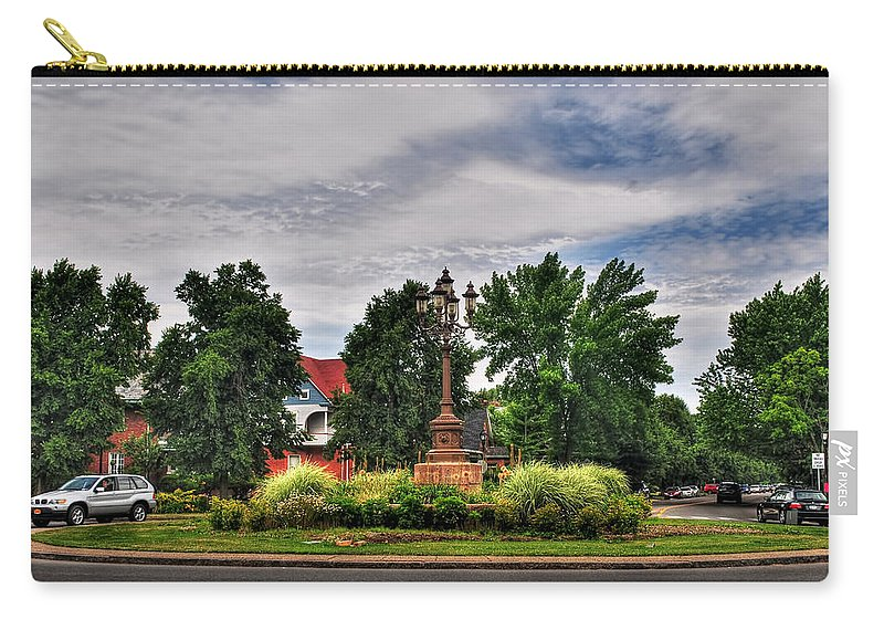Carry-all Pouch featuring the photograph West Ferry Circle by Michael Frank Jr