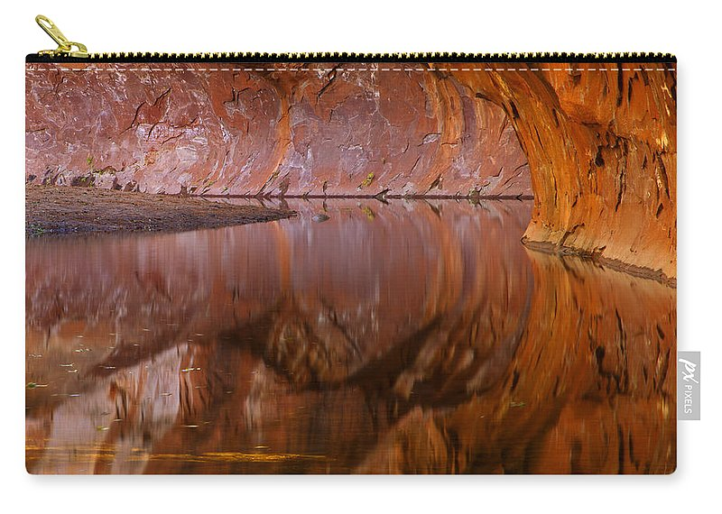 West Fork Carry-all Pouch featuring the photograph West Fork Illusion by Mike Dawson