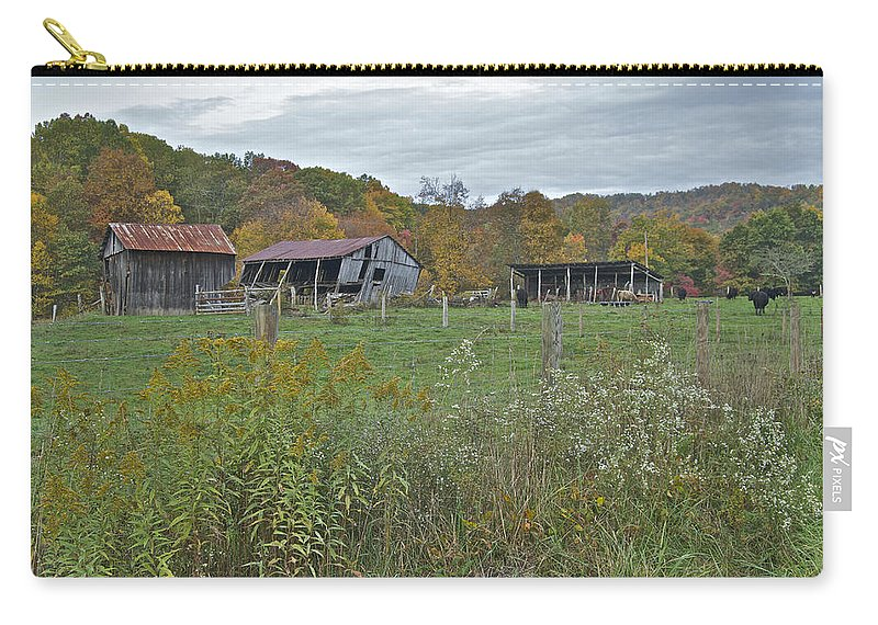 Countryside Carry-all Pouch featuring the photograph West Virginia Barn 3212 by Michael Peychich
