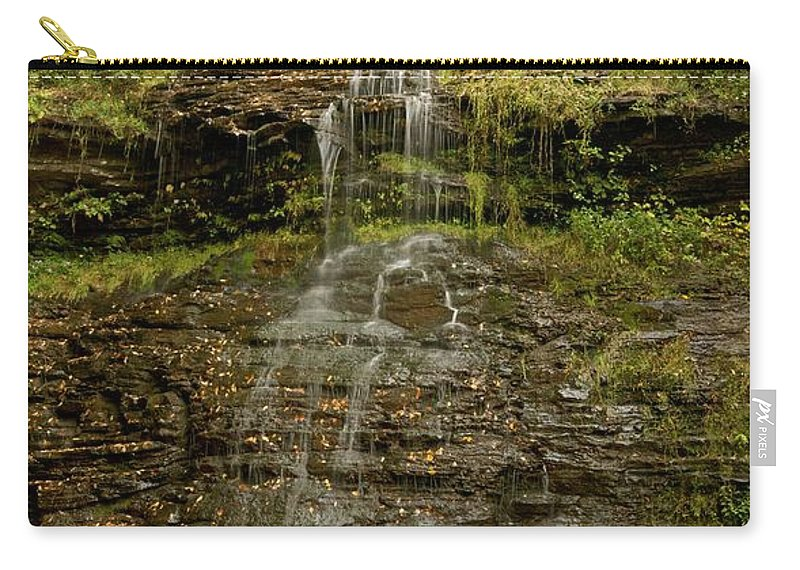 Cathedral Falls Carry-all Pouch featuring the photograph West Virginia Waterfall by Michael Peychich