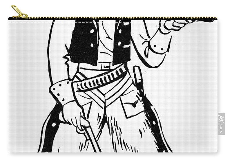 19th Century Carry-all Pouch featuring the photograph Western Outlaw by Granger
