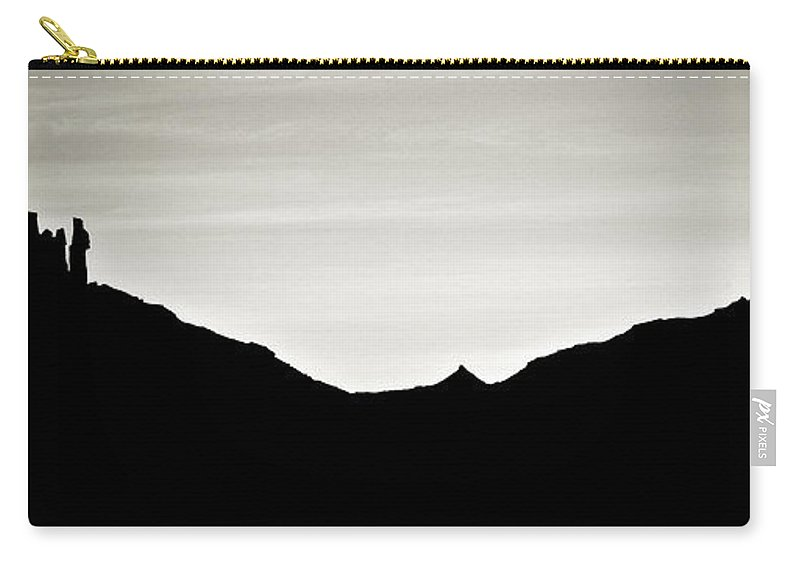 Geology Carry-all Pouch featuring the photograph Western Silhouette by Marilyn Hunt