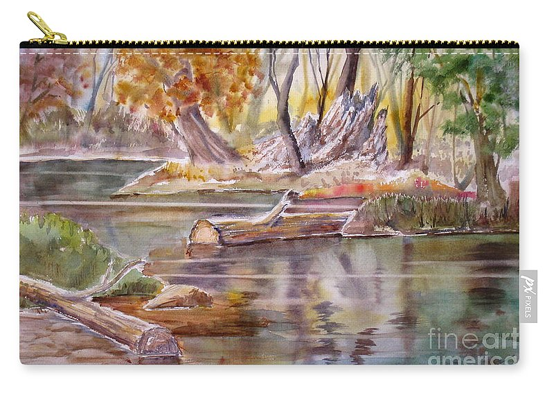 Carry-all Pouch featuring the painting Wet Coast by Mohamed Hirji