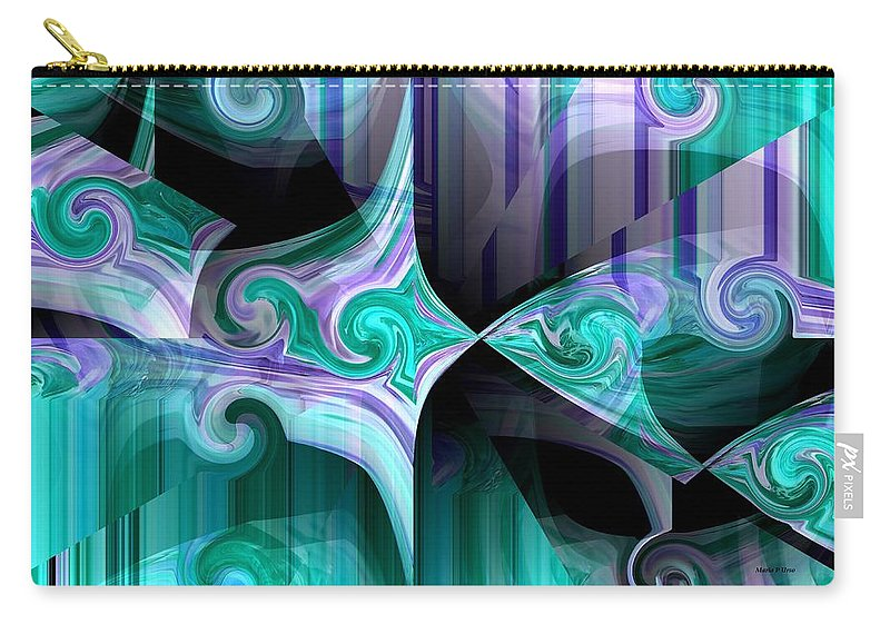 Wet Carry-all Pouch featuring the digital art Wet Kiss by Maria Urso