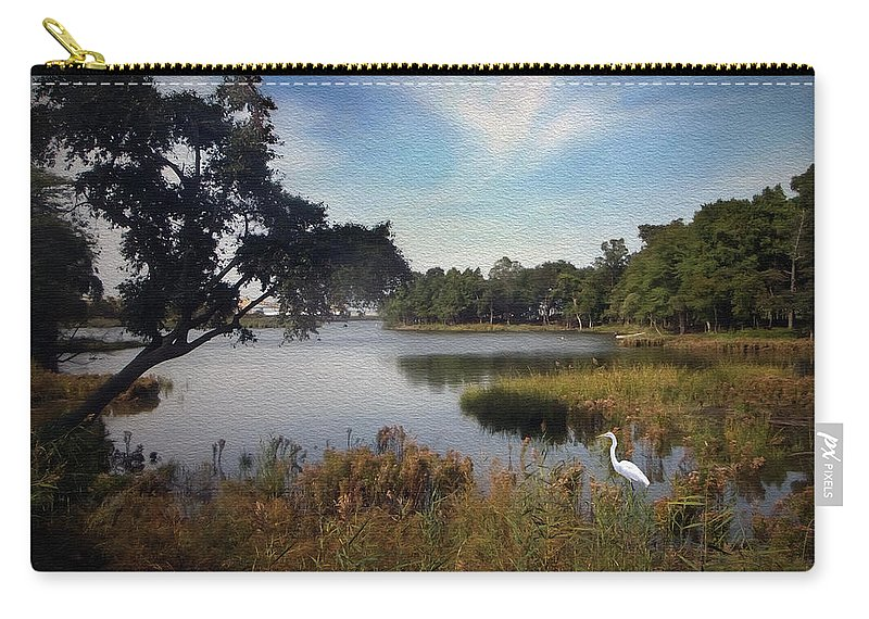 2d Carry-all Pouch featuring the photograph Wetlands - Oil Painting Effect by Brian Wallace