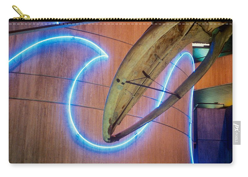 Baltimore Carry-all Pouch featuring the photograph Whale Into Blue Wave by Mark Dodd