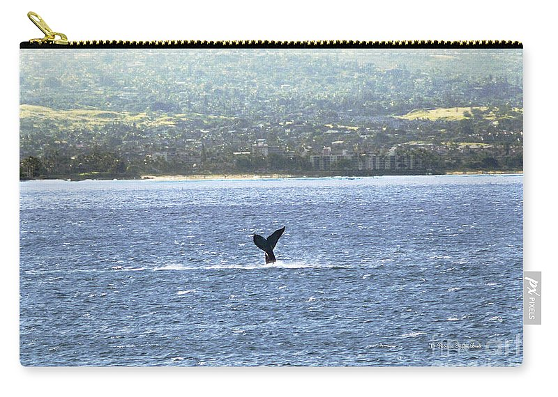 Fine Art Photography Carry-all Pouch featuring the photograph Whale Tail II by Patricia Griffin Brett