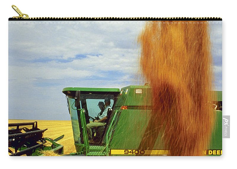 Wheat Carry-all Pouch featuring the photograph Wheat Harvest by Photo Researchers