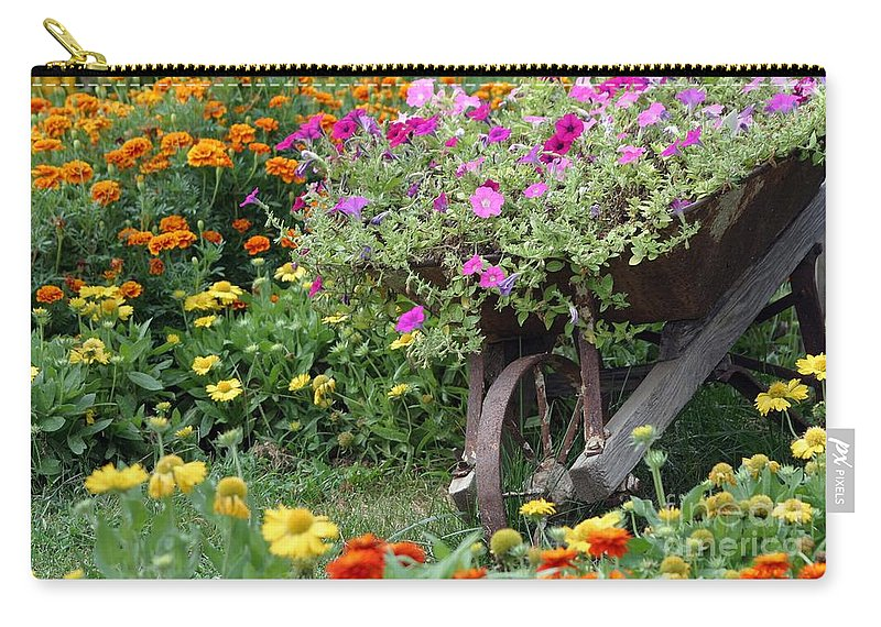 Floral Carry-all Pouch featuring the photograph Wheel Of Color by Living Color Photography Lorraine Lynch