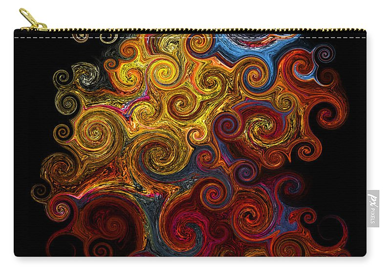 Photograph Carry-all Pouch featuring the photograph Wheels Keep On Turning by Vicki Pelham