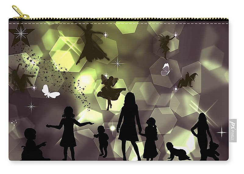 Wish Carry-all Pouch featuring the digital art When You Wish Upon A Star by Ericamaxine Price