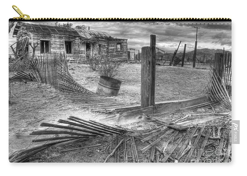 Dreams Carry-all Pouch featuring the photograph Where Does The Story End Monochrome by Bob Christopher