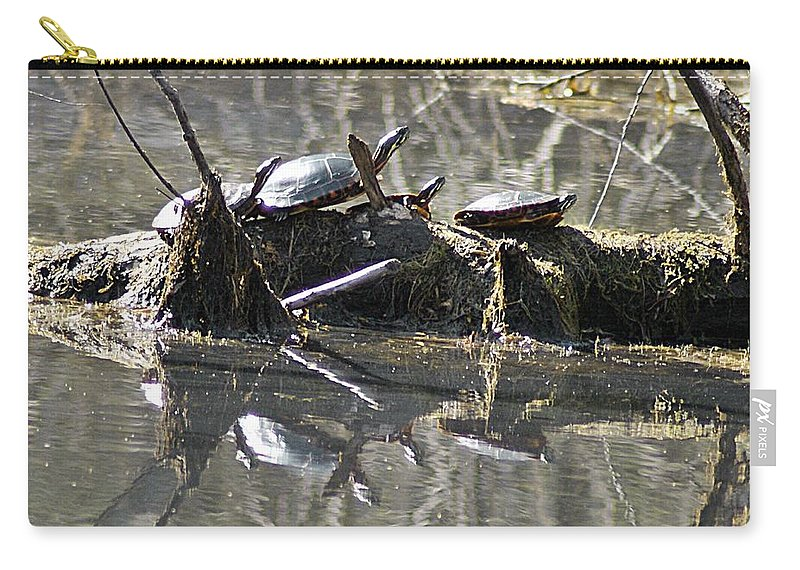 Horn Pond Carry-all Pouch featuring the photograph Where Is The Sunblock by Joe Faherty