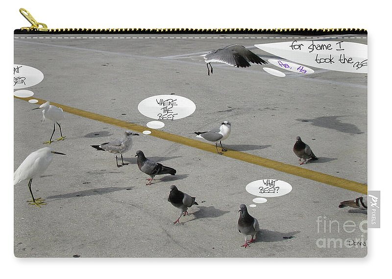 Birds Carry-all Pouch featuring the photograph Where The Beef by Donna Brown