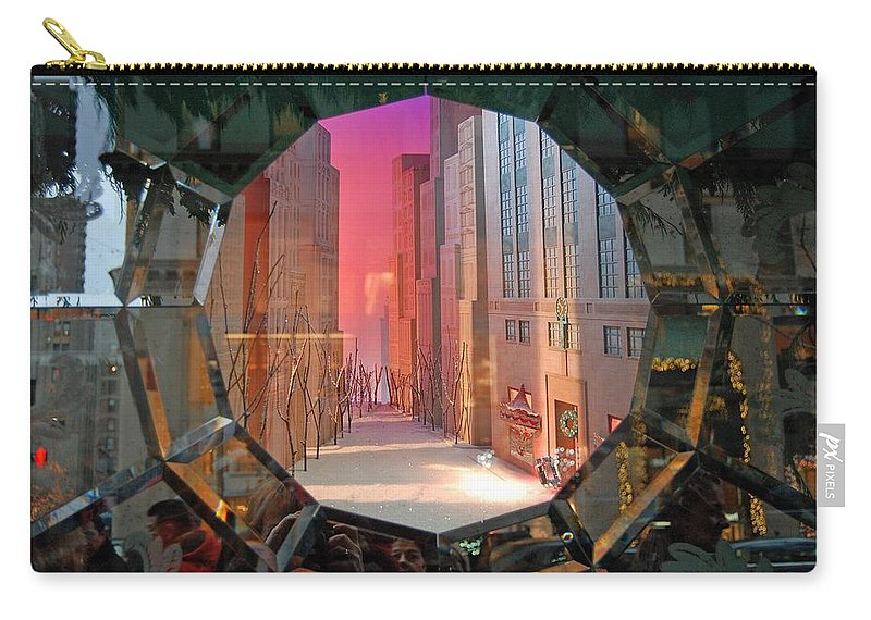 Reflections Carry-all Pouch featuring the photograph Winter Wonder Window by Stefa Charczenko