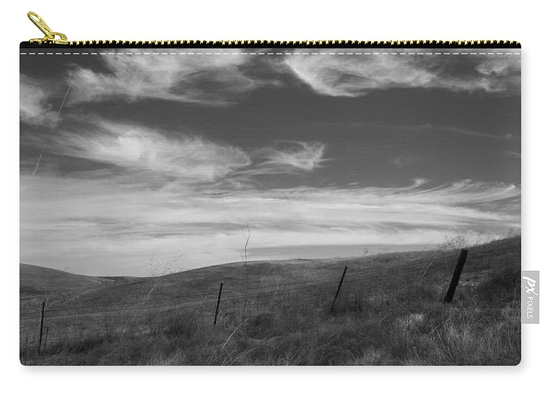 Hills Carry-all Pouch featuring the photograph Whipping Up The Hillside by Kathleen Grace