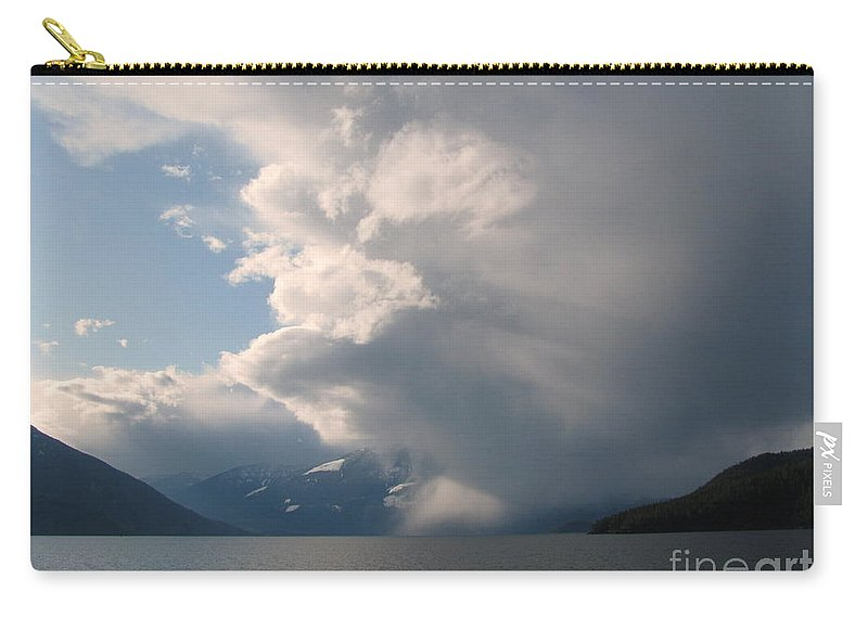 Storm Carry-all Pouch featuring the photograph Whirling Storm by Leone Lund