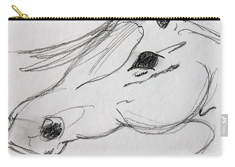 Pencil Sketch Carry-all Pouch featuring the photograph Whispy by Pamela Walrath