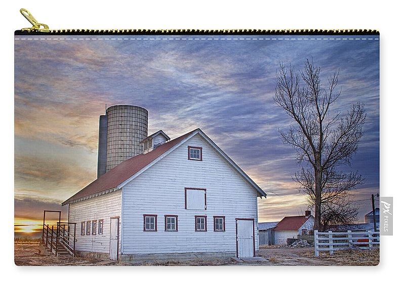 Cool Carry-all Pouch featuring the photograph White Barn Sunrise by James BO Insogna