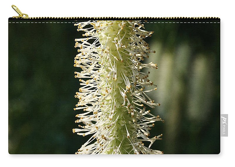 Outdoors Carry-all Pouch featuring the photograph White Canadian Burnet by Susan Herber