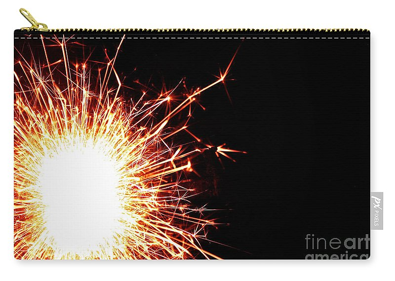 Fire Carry-all Pouch featuring the photograph White Center by Susan Herber