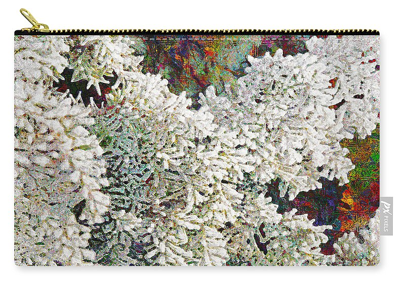 Snow Carry-all Pouch featuring the digital art White Christmas by Barbara Berney
