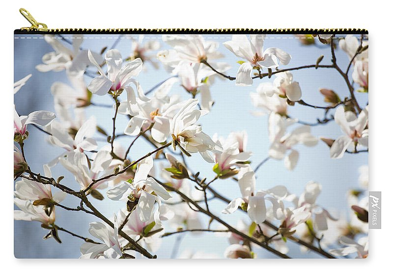 Flower Carry-all Pouch featuring the photograph White Flowers by Pati Photography