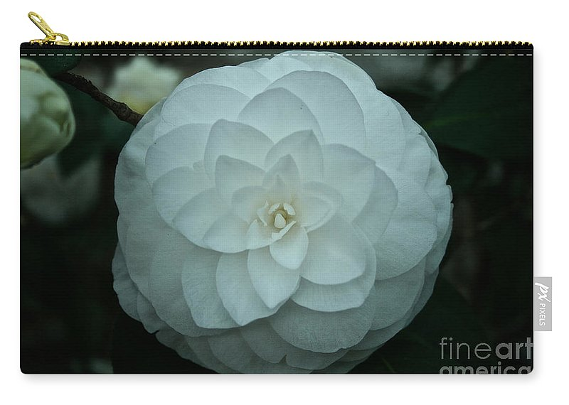 Tropical Plant Carry-all Pouch featuring the photograph White Perfection by Susan Herber