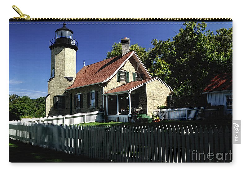 Lighthouse Carry-all Pouch featuring the photograph White River Light by Ronald Grogan