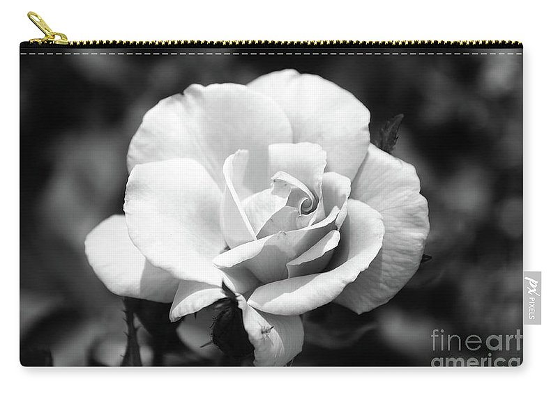 Rose Carry-all Pouch featuring the photograph White Rose by Ronald Grogan